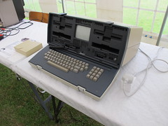 Osbourne luggable computer.