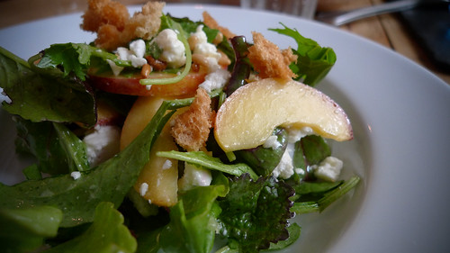 Pear, feta and pine nut salad
