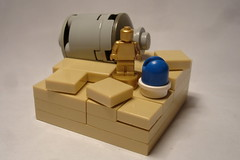 Escape (FilipS) Tags: brick nerd for star starwars escape looking geek lego you 4 robots r2d2 stuff sw wars these arent iv vignette episode escapepod c3po moc vig