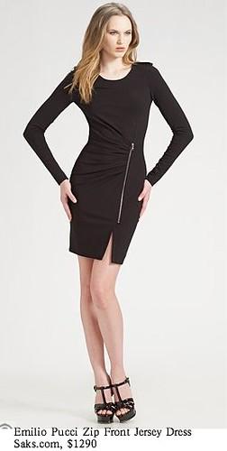 Saks.com - Emilio Pucci - Zip-Front Jersey Dress-1
