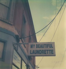 my beautiful laundrette || explored (agrippinamaior) Tags: real polaroid fitzroy australia melbourne victoria oldschool expired brunswickst mybeautifullaundrette atz hanoverst explored roidweek artistictimezero theimpossibleproject