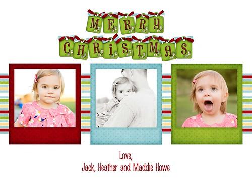 Christmas 3 photo card