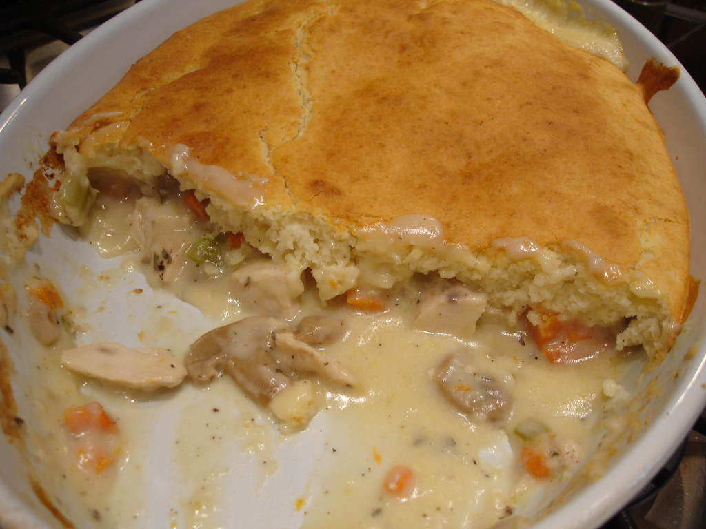 how to make chicken pot pie with bisquick