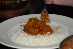 Khushi's - Lamb Karahi and rice