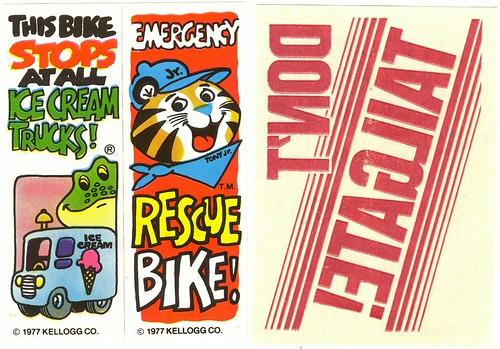 Kellogg's Bike Stickers