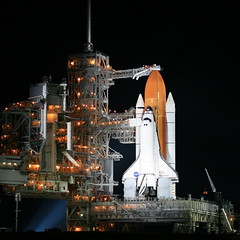 Space Shuttle Endeavour on Pad39A (jurvetson) Tags: night space pad selection nasa sp shuttle kennedyspacecenter ksc launch nuit lancement espace endeavour 5photosaday spselection pad39a sts118 superaplus aplusphoto 5d365 navettespaciale aphotocontest31
