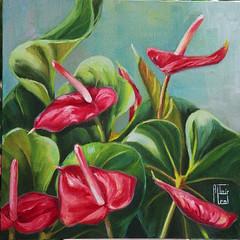 Antrios 3 (altairleal) Tags: red antrios paintedflowers
