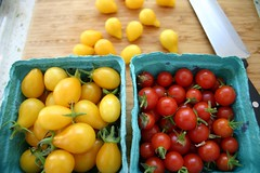 cherry tomatos from our garden