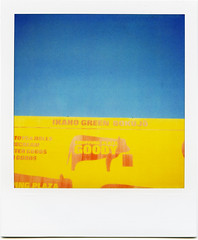 blue sky, green farm (masaaki miyara) Tags: polaroid sx70 design photo graphic  landcamera    argylestreettearoom masaakimiyara