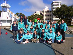 Frank Kitts Park (anakiwa_forever) Tags: park blue newzealand sunshine aqua waterfront slide wellington guiding girlguides frankkittspark youngleaders inthelead