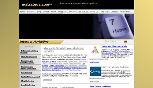 e-strategy.com New Front Page In Firefox - 8/28/07