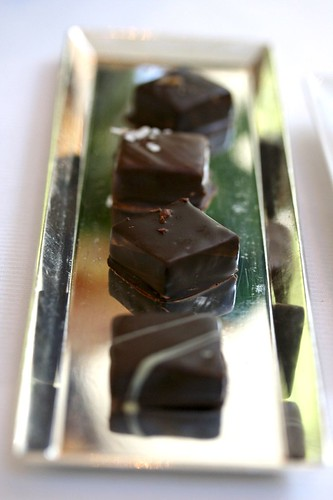 Tray of Homemade Chocolate Bonbons