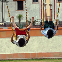 Swinging Up (Ricardo Carreon) Tags: boys topf25 up playground kids mexico topv999 ricardo fernando backs swinging columpio goingup cy2 challengeyouwinner anawesomeshot laazufrosa