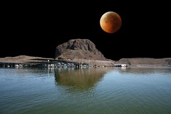 Blood Moon at Elephant Butte Lake