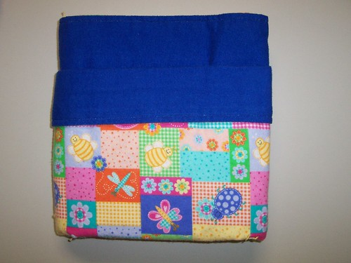Reversible Flannel Baby Blanket-Blue Quilt