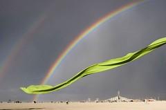 Double Rainbow (smashz) Tags: scarf rainbow playa blackrockcity brc doublerainbow burningman2007 bm2007 bm07 burningman07