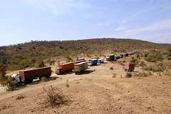 TRUCKING IN TANZANIA (Claude  BARUTEL) Tags: africa road truck tanzania desert transport off dust scania