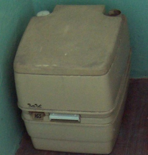 1970s portable chemical toilet Fremantle Prison