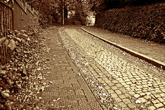 The Last Cobbles In Walsall 30/09/2007 (Gary S. Crutchley) Tags: street church st sepia cobbles matthews walsall