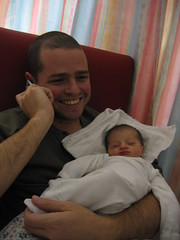 Yuval 1 Days old with her Father (oranstopper) Tags: yuval