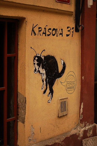 ...street art in Prague...