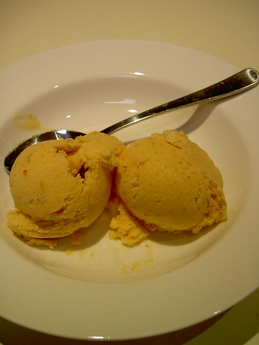 Homemade apricot icecream