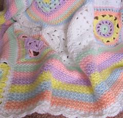 crochet improv baby blanket (6) (temari_stasia) Tags: baby pastel crochet blanket afghan blankets crocheted afghans