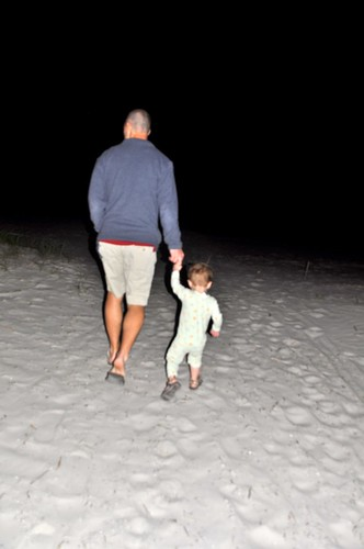 Ben's first time on the sand!