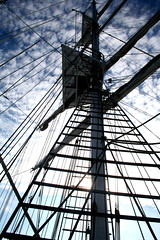 Way up high (Helen F H) Tags: orkney tallship sailingship stromness lordnelson sailingboat jst jubileesailingtrust disabledsailing threemastedschooner