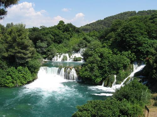 Krka Nemzeti Park vízesés