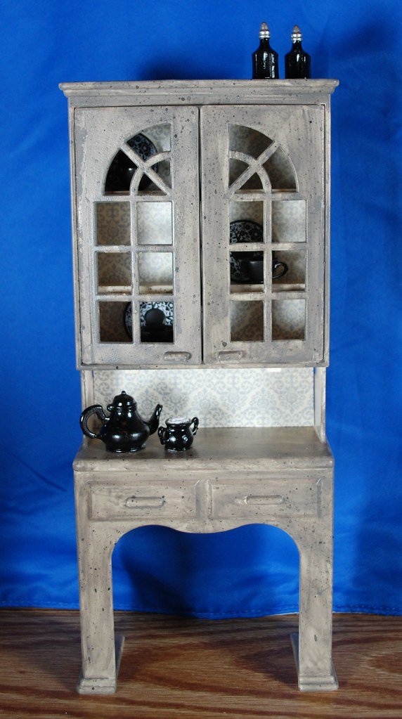 OOAK Gothic China Hutch--Exterior