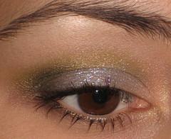Fyrinnae Sparkles (AxSDenied) Tags: brown green sparkles silver makeup mineral cosmetics eyeshadow sparkly eotd fyrinnae