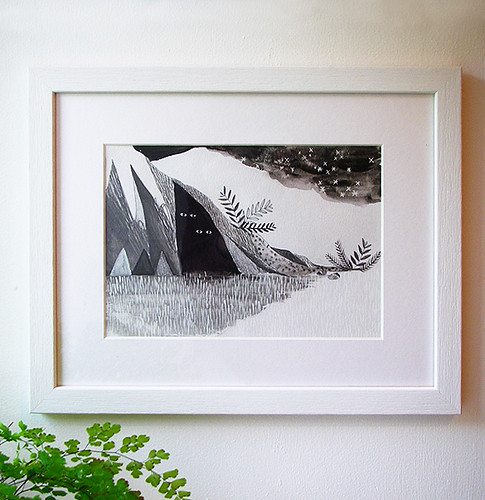 Hiders Framed Original Drawing