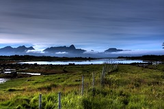 Fenceless (Frontbroiler) Tags: light sky norway clouds fence norge day cloudy bluesky bog nordnorge vesterlen myr northnorway melya alsvg ksnes