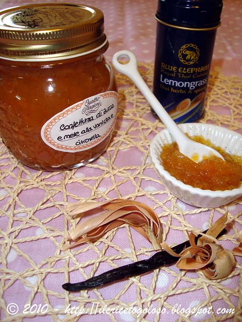 Confettura di zucca e mele alla vaniglia e citronella 2