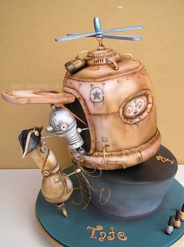 Machinarium (Steampunk) cake