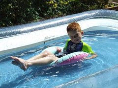 Kicking back in the pool