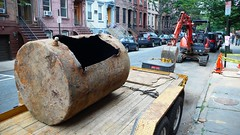 Hoboken oil tank removed from Bloomfield Street (hoboken411) Tags: hoboken 411 hoboken411