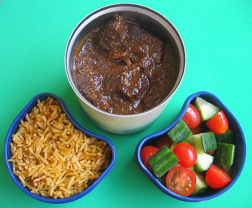 Chili con carne bento lunch