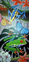 Painting: Tropical Rainforest: Frogs, Butterflies and Orchids (Floyd Muad'Dib) Tags: flowers plants usa plant orchid flower art animal animals america butterfly painting insect geotagged rainforest paint acrylic orchids united north paintings butterflies amphibian insects frog jungle frogs tropical vegetation states amphibians acrylics acrylicpaint monarchbutterfly redeyedtreefrog tropicalrainforest jungles poisonarrowfrog tropicalorchids morphobutterfly acrylicpaints tropicalpainting tropicalpaintings butterflypaintings rainforestfrog rainforestfrogs rainforestorchids tropicalrainforestart tropicalrainforestpictures