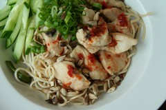 Chicken Chow Mein (koe2moe) Tags: food green chicken noodles spicy 2007 ilovegreen chickenchowmein imade