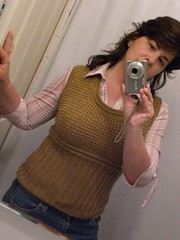 Back to school u-neck vest (No Knit Sherlock!) Tags: vest fittedknits backtoschooluneckvest
