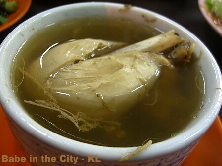 KK - sum soe dan kai (double boiled hair of ginseng roots with chicken)