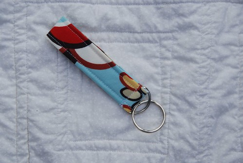 Keychain sent with doll quilt 2