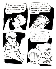 Sweet Opiates (johnralston) Tags: comics blackwhite comic ear infection painkillers opiates homemovies earinfection ayearincomics