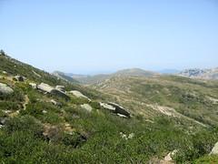 Sur le tracé jaune de Bocca di Chiralba/Alcudina: dans la face W de l'Alcudina, Bocca di Chiralba
