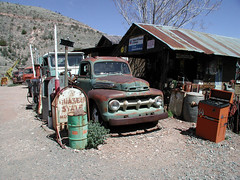 Gold King Mine (twm1340) Tags: old arizona ford station vintage gold mine king antique pickup az scene gas jerome quaker 40s goldkingmine outtopasture outstandingshots anawesomeshot