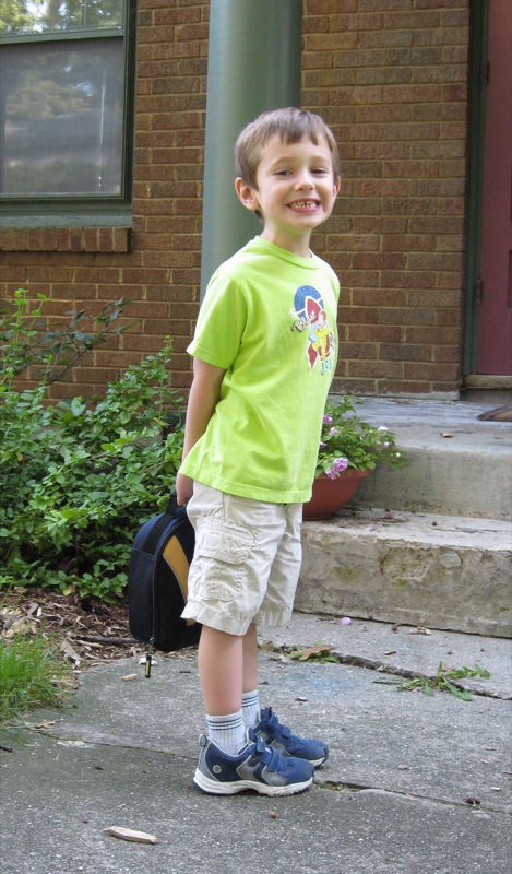 John, First Day of School