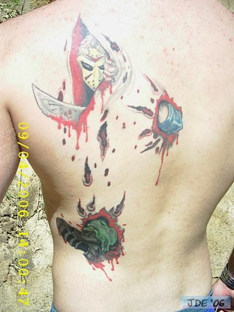 jason voorhees tattoos (49). this photo was not taken by me but i did have