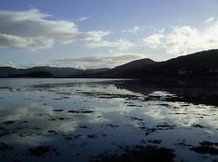 Another fine September evening (fastbird61) Tags: sea sky reflection scotland september highland shore loch 07 gloaming westerross blus rossshire lochcarron eveining